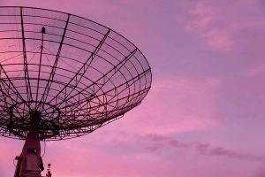 zakelijk instinct alles opvangen met radio telescoop